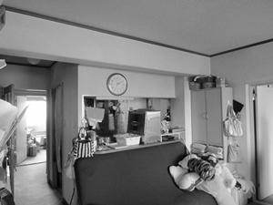 リフォーム前の独立キッチン