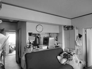 閉鎖的なキッチン